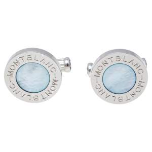 Montblanc Meisterstuck Mother of Pearl Silver Tone Cufflinks