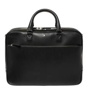 Montblanc Black Leather Large Sartorial Document Briefcase