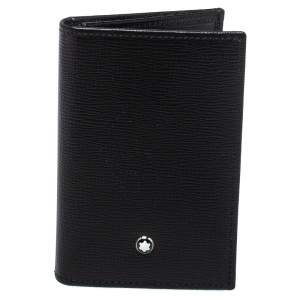 Montblanc Black Leather Meisterstuck Business Card Holder