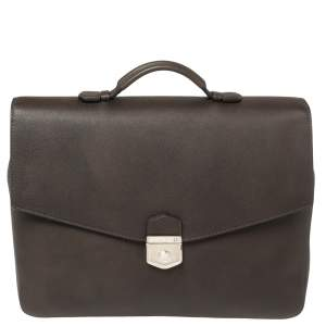 Montblanc Dark Brown Leather Meisterstuck Sfumato Briefcase