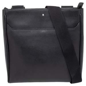Montblanc Black Leather Medium Sartorial Envelope Messenger Bag