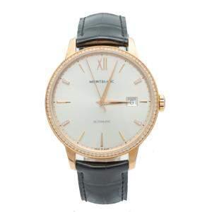 Montblanc Heritage Spirit Rose Gold Diamond Bezel Automatic Watch 39 MM