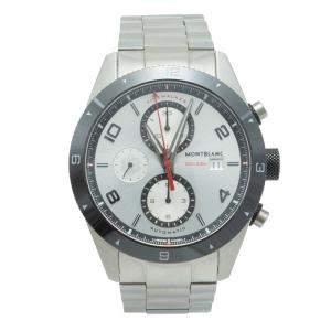 Montblanc Silver Dial Timewalker Steel Chronograph Men's Watch 43 MM