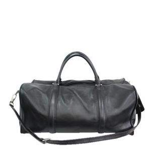 Montblanc Black Lambskin Leather Travel Weekender Bag