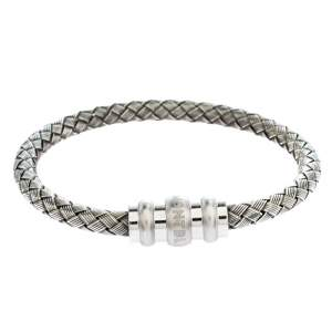 Montblanc Contemporary Collection Sterling Silver Woven Bracelet