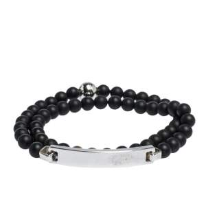 Montblanc Sterling Silver, Onyx and Tiger's Eye Beaded James Dean Bracelet