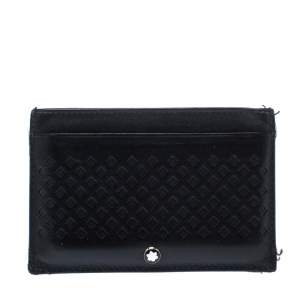 Montblanc Black Perforated Leather Card Holder 2CC