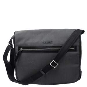 Mont Blanc Black Meisterstuck Canvas Large Messenger Bag