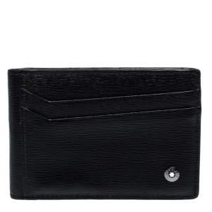حافظة بطاقات مون بلان 8CC جلد أسود
