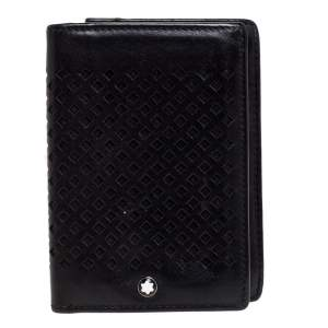 Montblanc Black Perforated Leather Card Holder