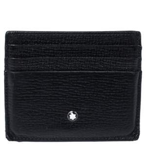 Montblanc Black Grain Leather Meisterstuck Card Holder