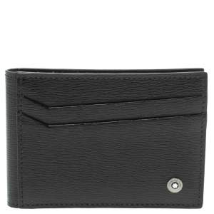 Montblanc Black Leather Westside 8CC Bifold Card Holder