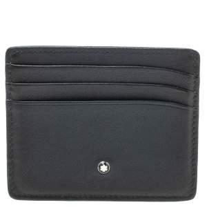 MontBlanc Navy Blue Leather Meisterstck 6CC Card Holder