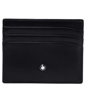 Montblanc Black Leather Meisterstuck Card Holder 6CC