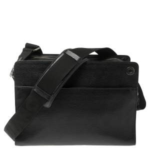 Montblanc Black Leather Camera Bag