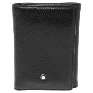 Montblanc Black Leather Meisterstuck Trifold Card Holder