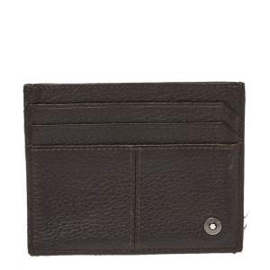 Montblanc Dark Brown Leather Card Holder
