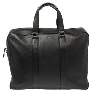 Montblanc Black Leather Meisterstuck Document Briefcase