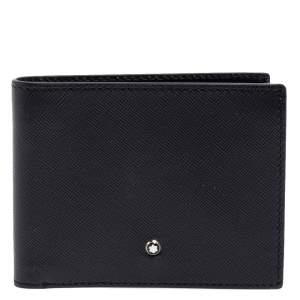 Montblanc Black Leather Sartorial 6CC Bifold Wallet