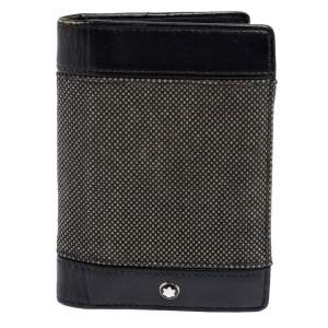 Montblanc Black Canvas and Leather Meisterstuck Business Card Holder