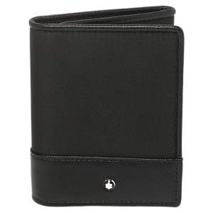 Montblanc Black Nylon and Leather Trifold Wallet