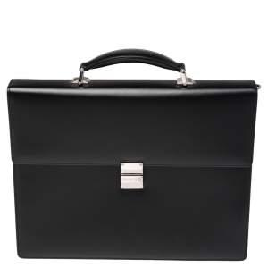 Montblanc Black Leather Meisterstück Double Gusset Briefcase