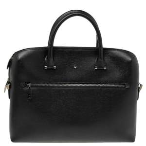 حقيبة مستندات مون بلان 4810 ويست سايد سليم جلد أسود