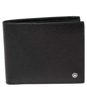 Montblanc Black Leather Westside 8CC Bifold Wallet