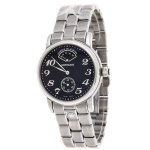 Montblanc Black Stainless Steel Meisterstück  7017 Men's Wristwatch 36MM