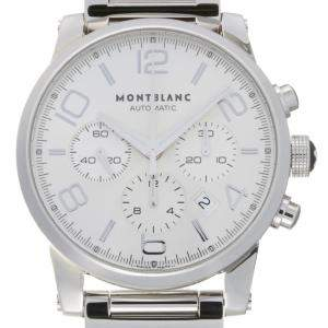 Montblanc Silver Stainless Steel Timewalker Chronograph 7069 Men's Wristwatch 43 MM