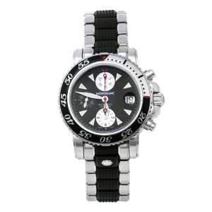 Montblanc Black Stainless Steel Sport XXL 102359 Automatic Chronograph Men's Wristwatch 41.50 mm