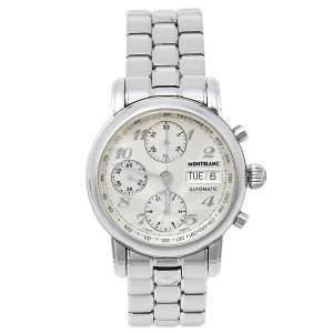 Montblanc Silver Stainless Steel Meisterstuck 7016 Men's Wristwatch 38 mm
