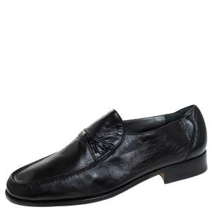 Moreschi Black Leather Loafer Size 7 UK
