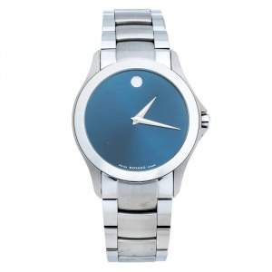 Movado Blue Stainless Steel Masino Men's Wristwatch 38 mm