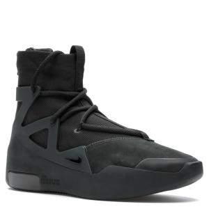 Nike Fear of God 1 Triple Black Sneakers Size 47.5