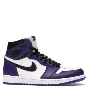 Nike Jordan 1 Court Purple 2.0 Sneakers Size 44