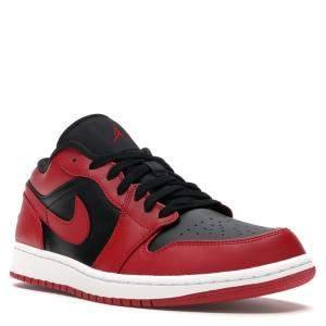Nike Jordan 1 Low Reverse Bred Sneakers Size 44