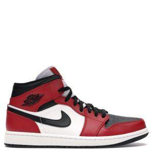 Nike Jordan 1 Mid Chicago Toe Sneakers Size 43