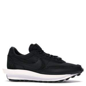 Nike Sacai Waffle Black Nylon Sneakers Size 45
