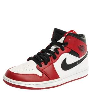 Air Jordan 1 Mid Nike Tricolor Leather Chicago High Top Sneakers Size 44