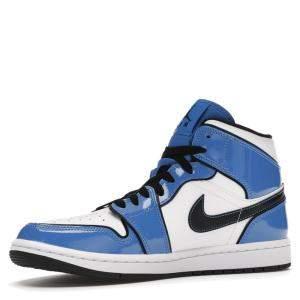 حذاء رياضي نايك جوردن 1 ميد سيغنال بلو مقاس أمريكي 9.5 مقاس أوروبي 43