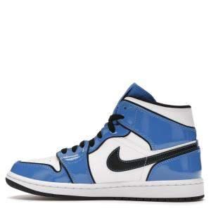 Nike Jordan 1 Mid Signal Blue Sneakers Size EU 45 (US 11)