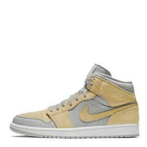 Nike Jordan 1 Mid Textures Yellow Sneakers Size EU 45.5 (US 11.5)