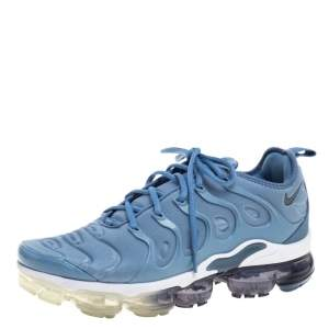 Nike Light Blue Neoprene Fabric Air Vapormax Plus Sneakers Size 43