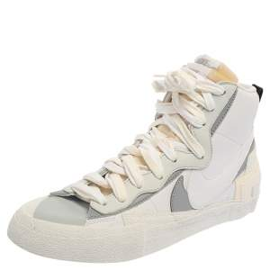 Nike x Sacai White/Grey Leather High Top Sneaker Size 42.5
