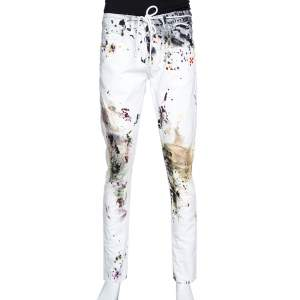 Off-White White Paint Splatter Denim Slim Fit Jeans M