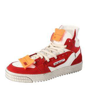 Off White Red/White Off Court Sneakers Size 43