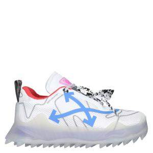 Off-White White/Multicolor Leather/Suede Trim Odsy Chunky Sneakers IT  41