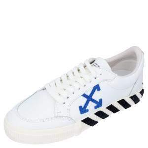 Off-White White Leather Vulc Low Sneakers Size EU 41