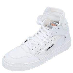 Off-White White Canvas Off Court High-Top Sneakers Size EU 42
